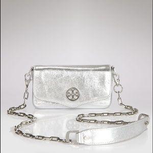 New Tory Burch Classic Mini Bag Silver